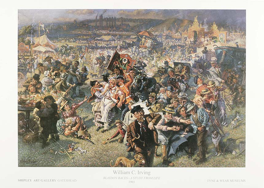 Blaydon Races A Study From Life 1903 William C Irving Poster