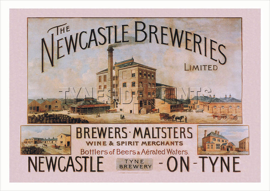 The Newcastle Breweries - The Tyne Brewery - Advertising Poster