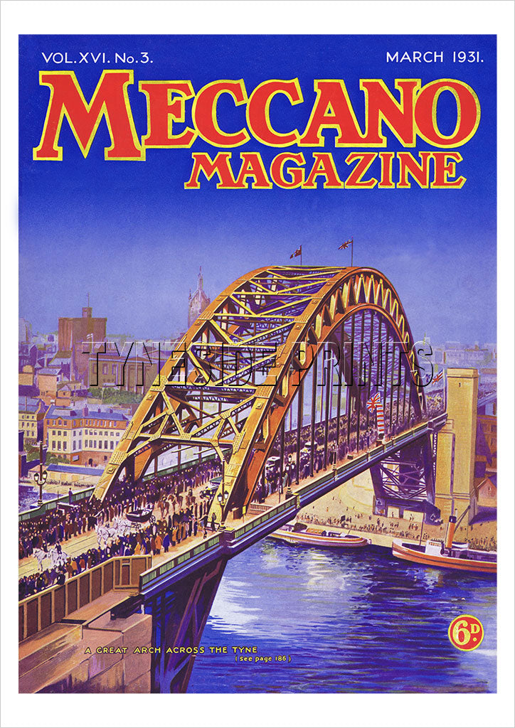 Tyne Bridge Meccano Magazine 1931 Poster
