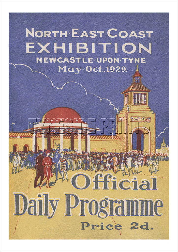 North East Coast Exhibition 1929 Newcastle upon Tyne Poster