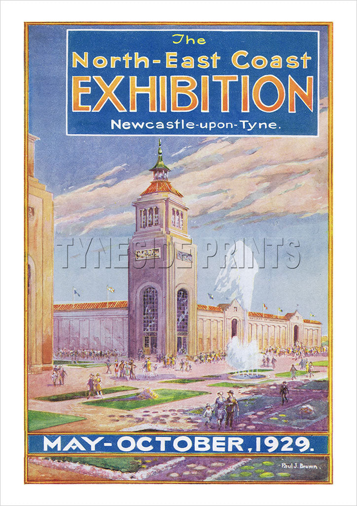 North East Coast Exhibition 1929 - Newcastle upon Tyne - Poster