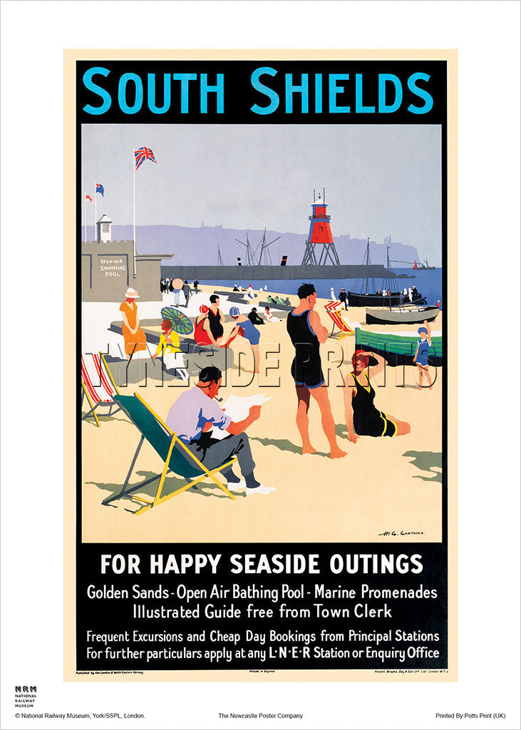 South Shields Railway Travel Poster