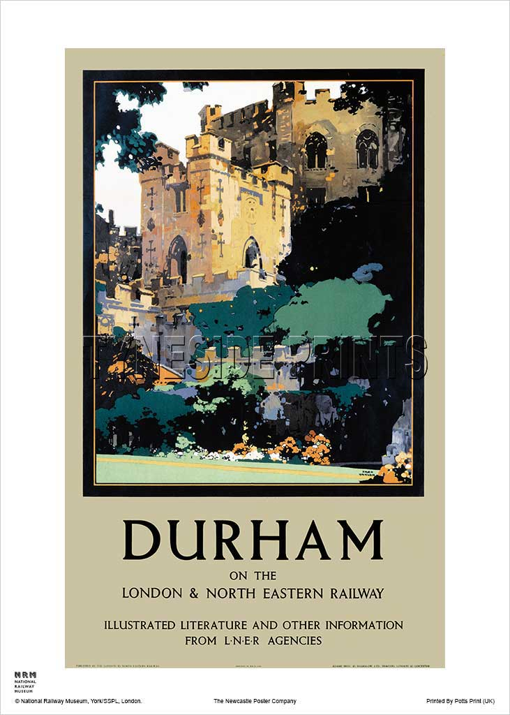 Durham Castle Railway Travel Poster