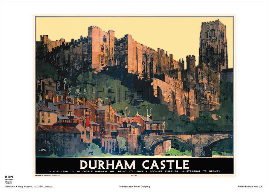 Durham Castle LNER Railway Travel Poster
