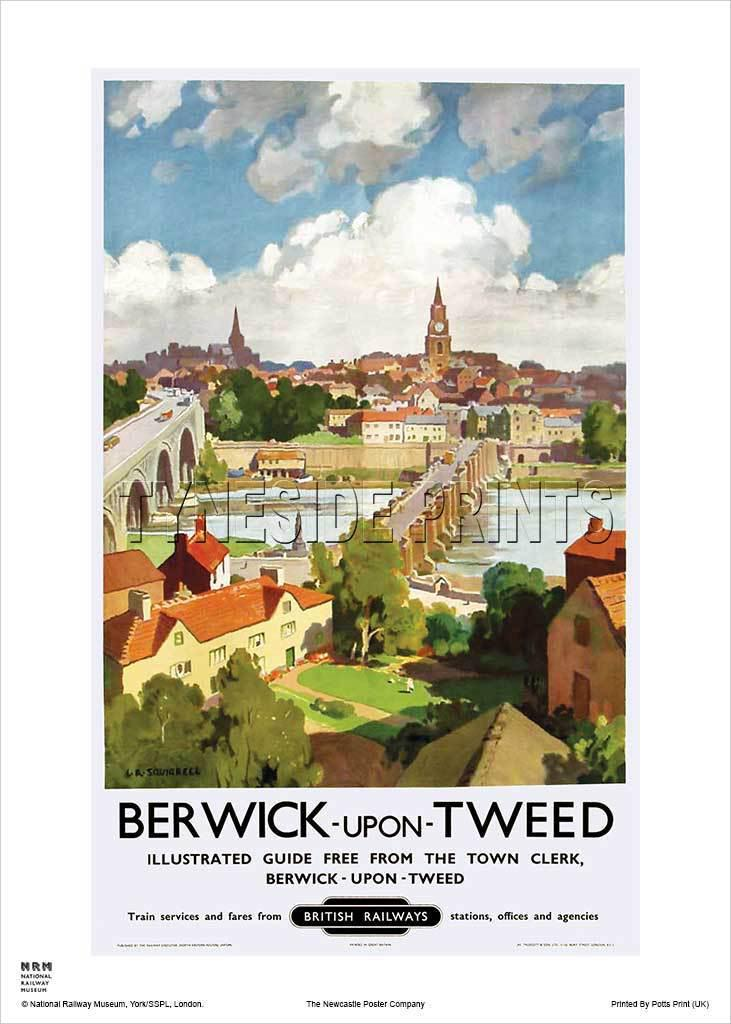 Berwick upon Tweed Bridges Travel Poster