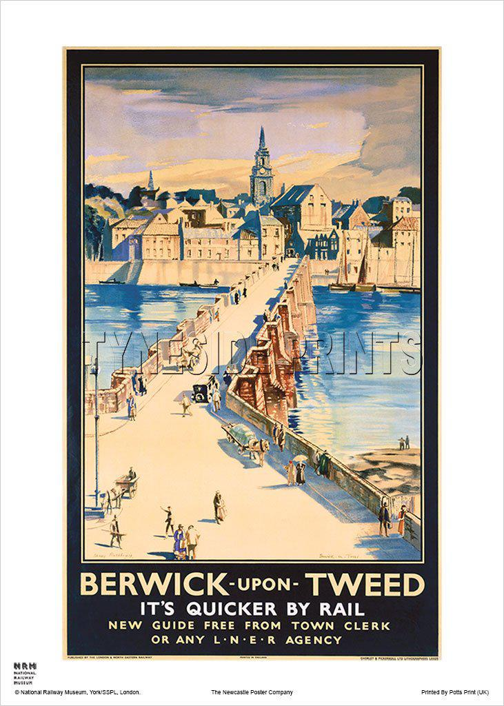 Berwick Old Bridge Railway Travel Poster