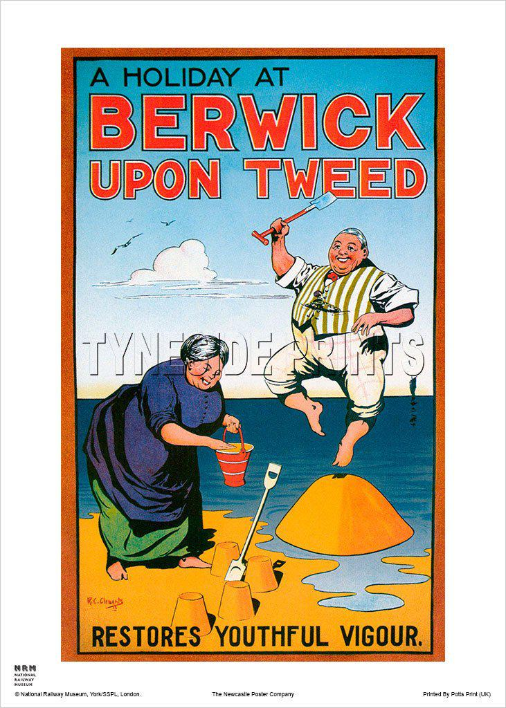 A Holiday At Berwick upon Tweed Travel Poster