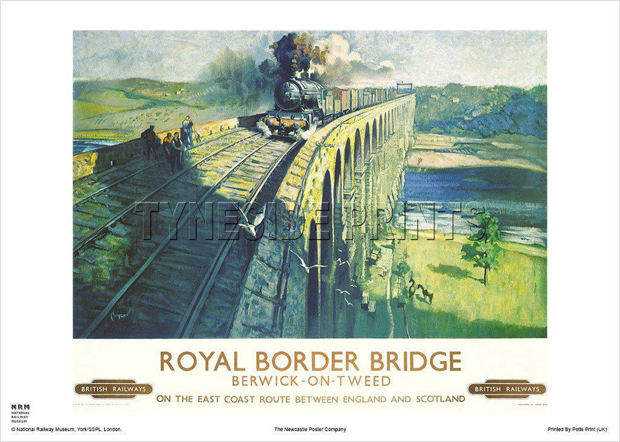 Royal Border Bridge - Berwick upon Tweed - Railway Travel Poster