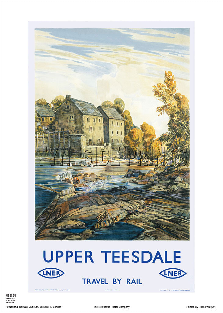 Upper Teesdale Railway Travel Poster