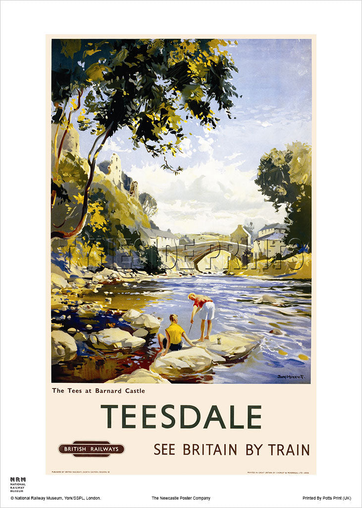 The Tees At Barnard Castle Teesdale Railway Travel Poster