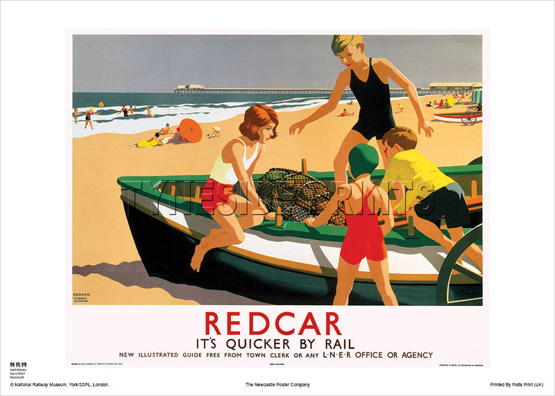 Redcar LNER Railway Travel Poster