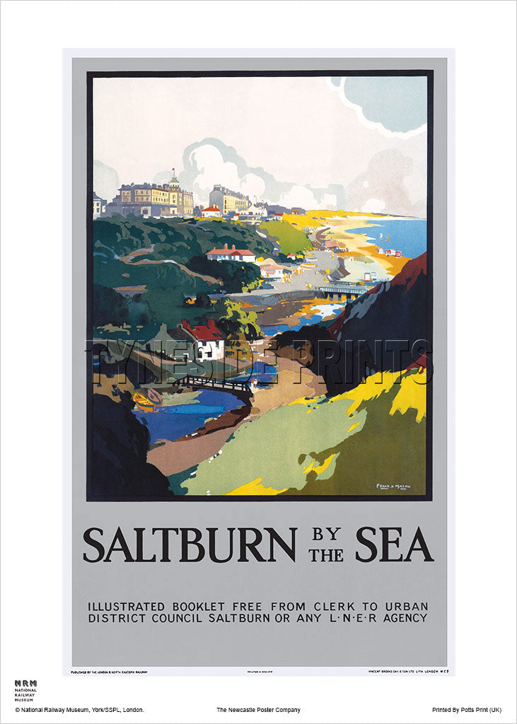 Saltburn by the Sea LNER Booklet Railway Travel Poster