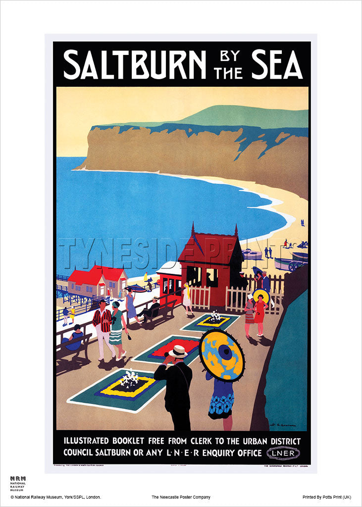Saltburn by the Sea Illustrated Booklet Railway Travel Poster