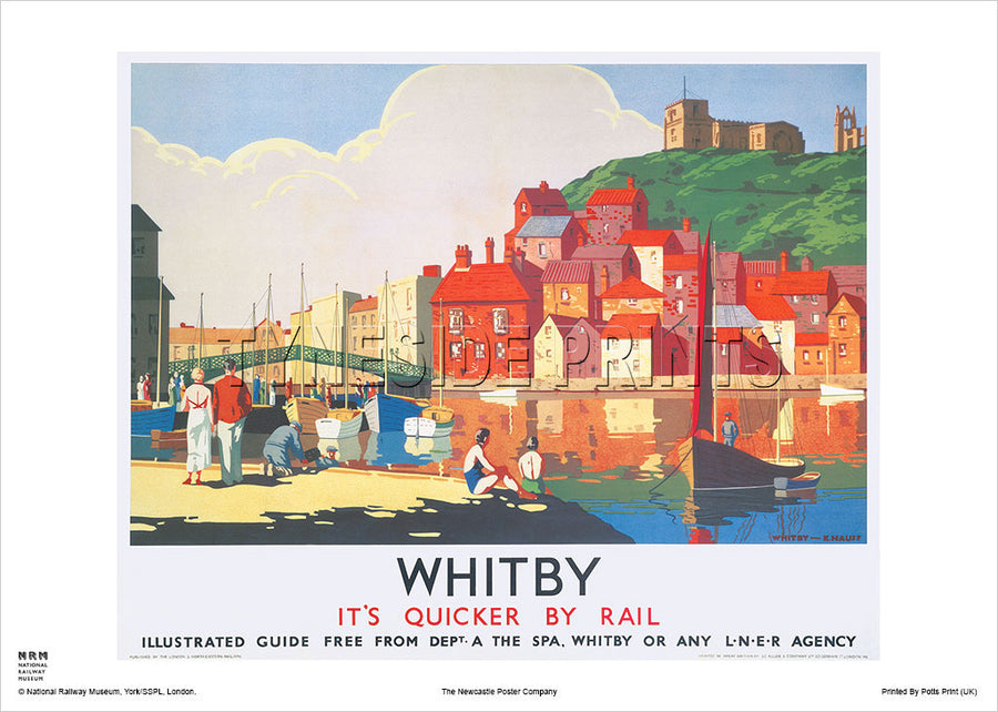 Whitby LNER Railway Travel Poster