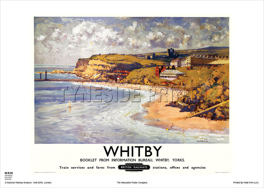 Whitby Yorkshire Railway Travel Poster
