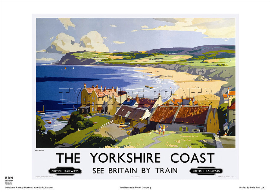 Robin Hood's Bay The Yorkshire Coast Railway Travel Poster