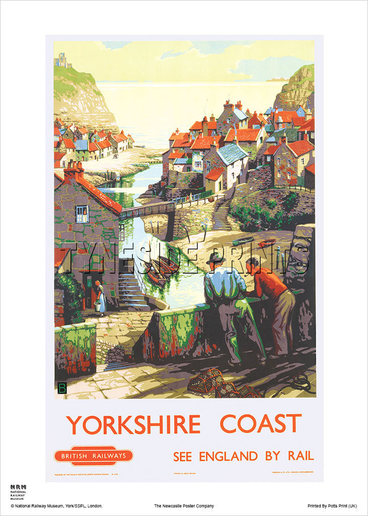Staithes Yorkshire Coast Railway Travel Poster