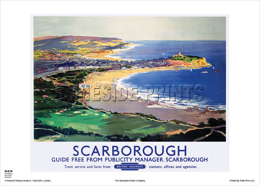 Scarborough Coast Yorkshire Railway Travel Poster