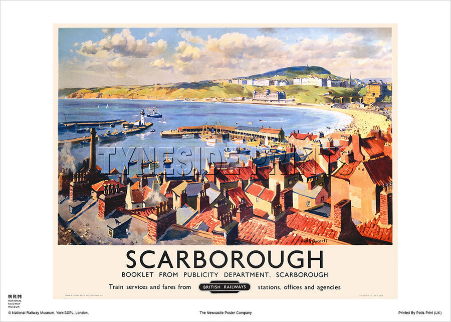 Scarborough Bay Railway Travel Poster