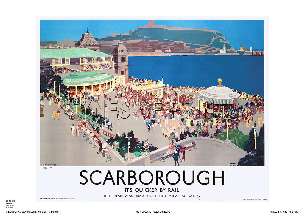 Scarborough - The Spa - Railway Travel Poster