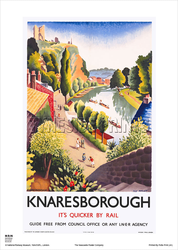 Knaresborough LNER Railway Travel Poster