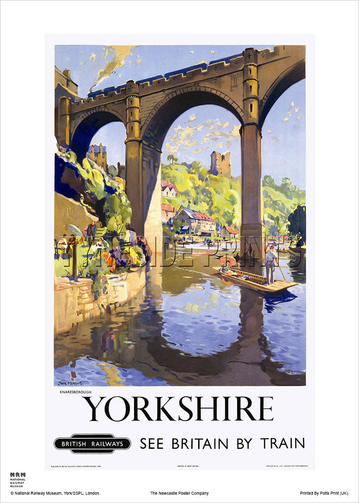 Yorkshire Knaresborough Railway Travel Poster
