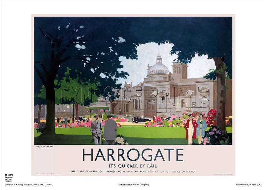Harrogate The Royal Baths Travel Poster