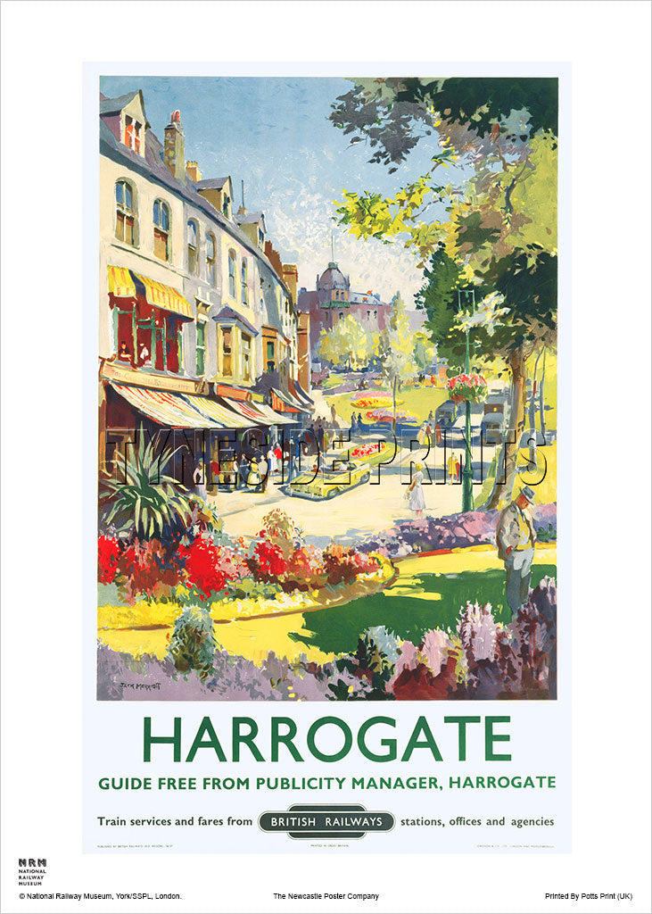 Harrogate British Railways Travel Poster
