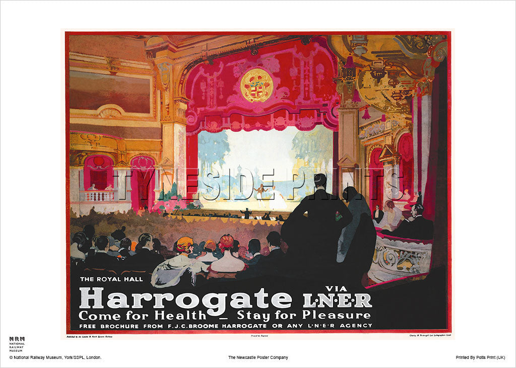 Harrogate The Royal Hall Travel Poster