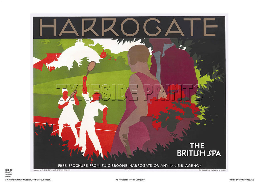 Harrogate The British Spa Travel Poster