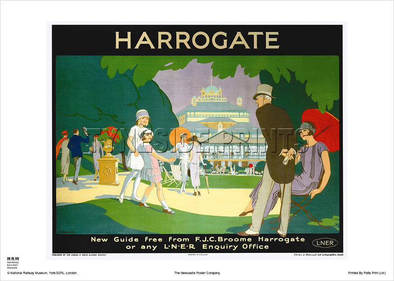 Harrogate New Guide Travel Poster
