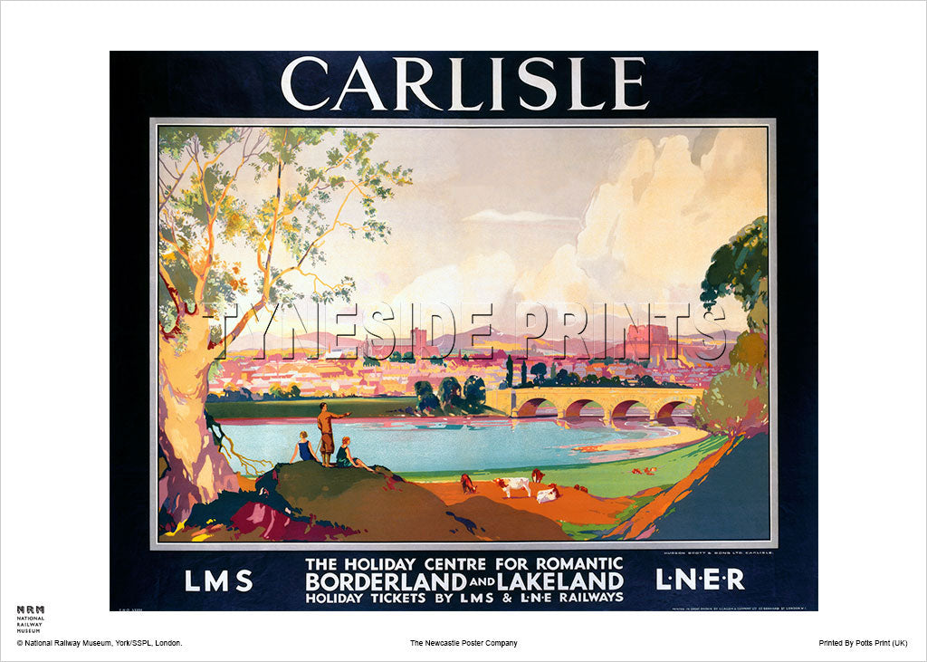 Carlisle Borderland and Lakeland Travel Poster