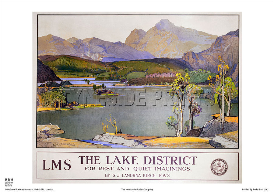 Lake District Rydal Water Travel Poster