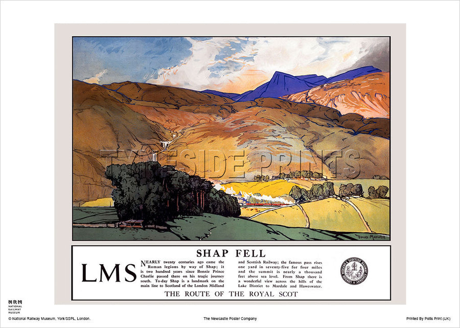 Shap Fell Lake District Travel Poster