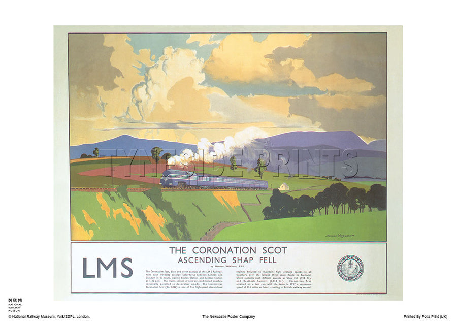 The Coronation Scot Shap Fell Lake District Travel Poster