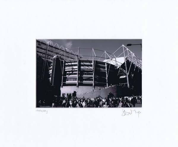 St. James' Park Match Day | Black & White Photographic Mounted Print