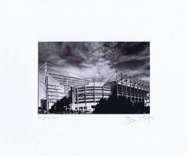 St. James' Park | Black & White Photographic Mounted Print | Newcastle United | Tyneside Prints