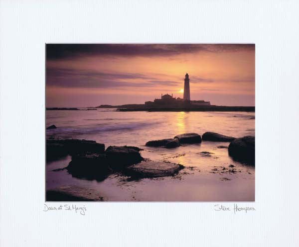 St Mary's Lighthouse | Whitley Bay | Colour Photographic Mounted Print
