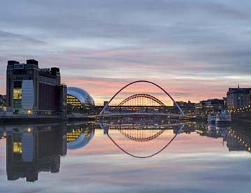 Sunset On The Tyne | Colour Photographic Print | Tyneside Prints