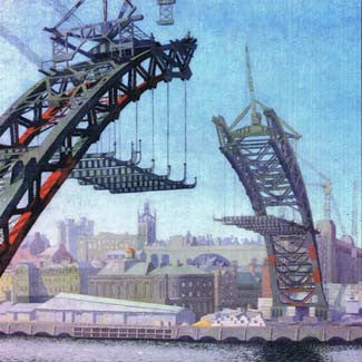 The Building Of The Tyne Bridge Card