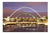Newcastle Bridges At Night | Photographic Card