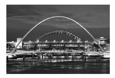 Newcastle Bridges At Night | Photographic Card | Tyneside Prints