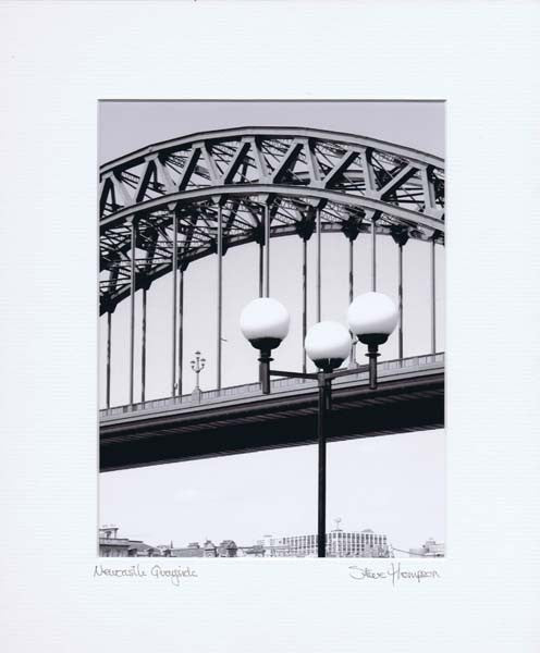 Tyne Bridge | Black & White Photographic Mounted Print