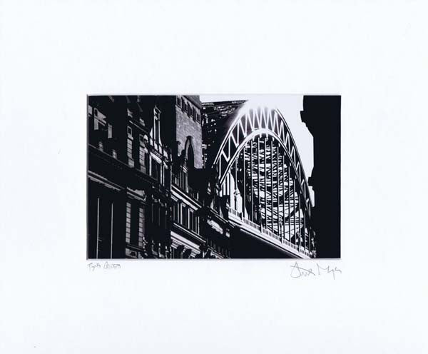 Tyne Bridge | Black & White Photographic Mounted Print | Tyneside Prints