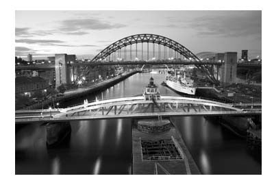 Newcastle Quayside At Night | Photographic Card | Tyneside Prints