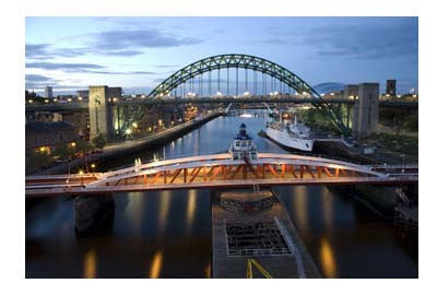 Newcastle Quayside At Night | Photographic Card