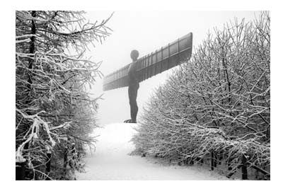 Winter Angel Of The North | Photographic Card