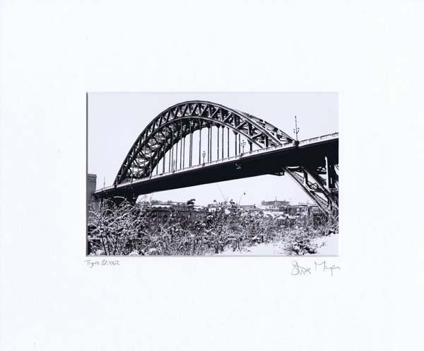 Winter Tyne Bridge | Black & White Photographic Mounted Print | Tyneside Prints