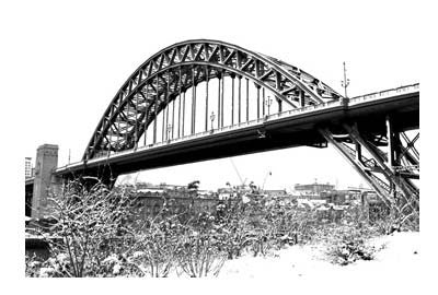 Tyne Bridge In The Snow | Photographic Card