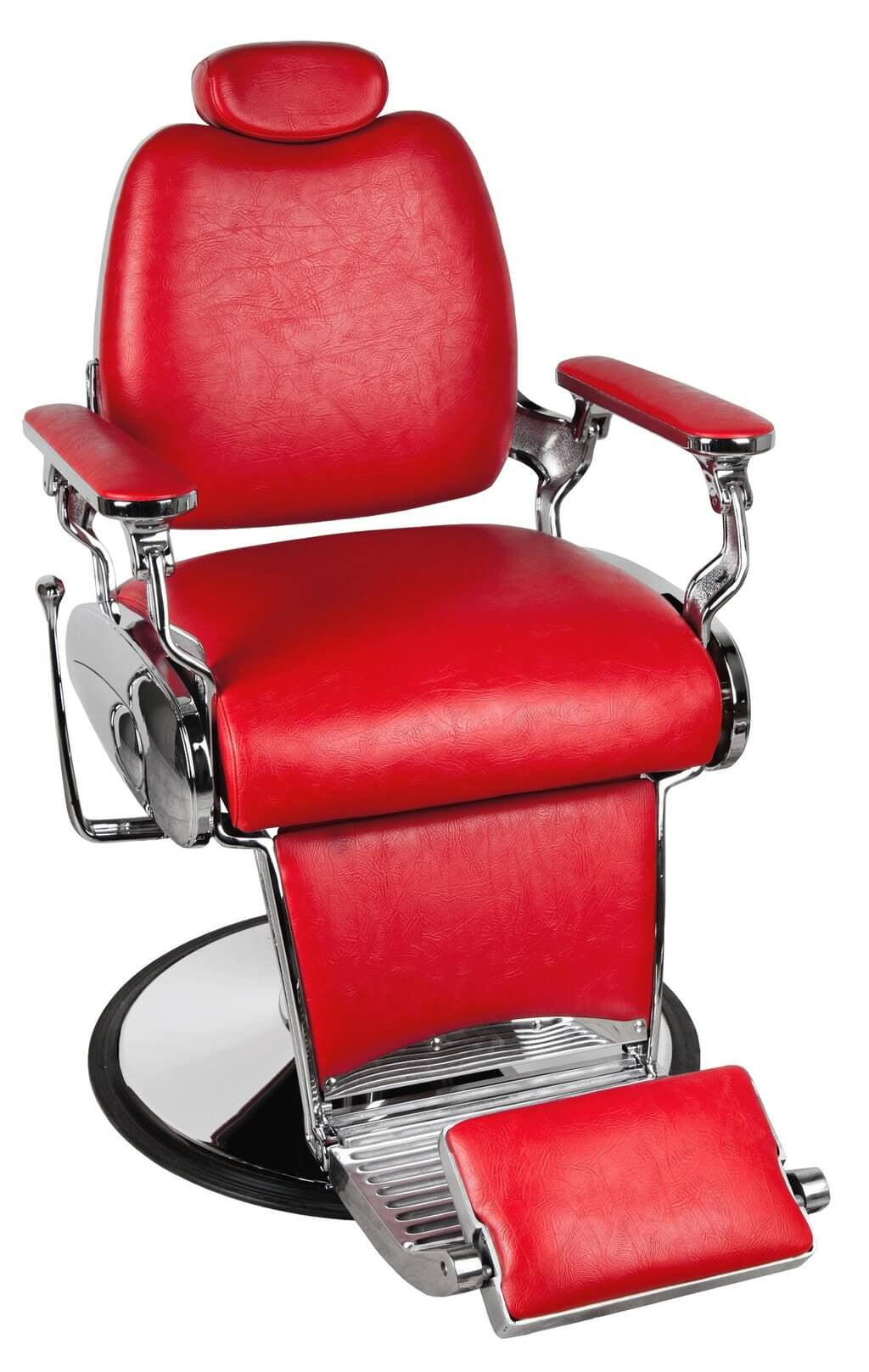 Jaguar Barber chair in Red